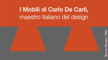 ithin the celebration for the centenary of Carlo De Carli birth presents the reediting of ten furniture designed by him.